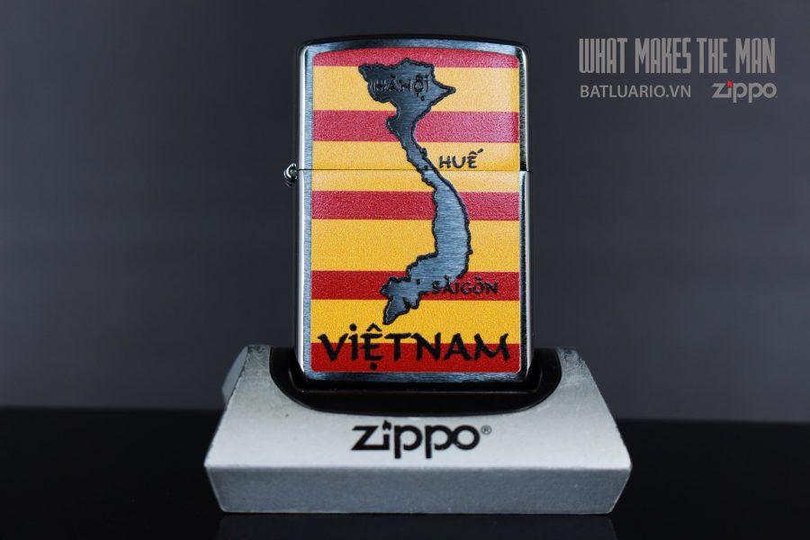ZIPPO 200 VIETNAM MAP AND FLAG