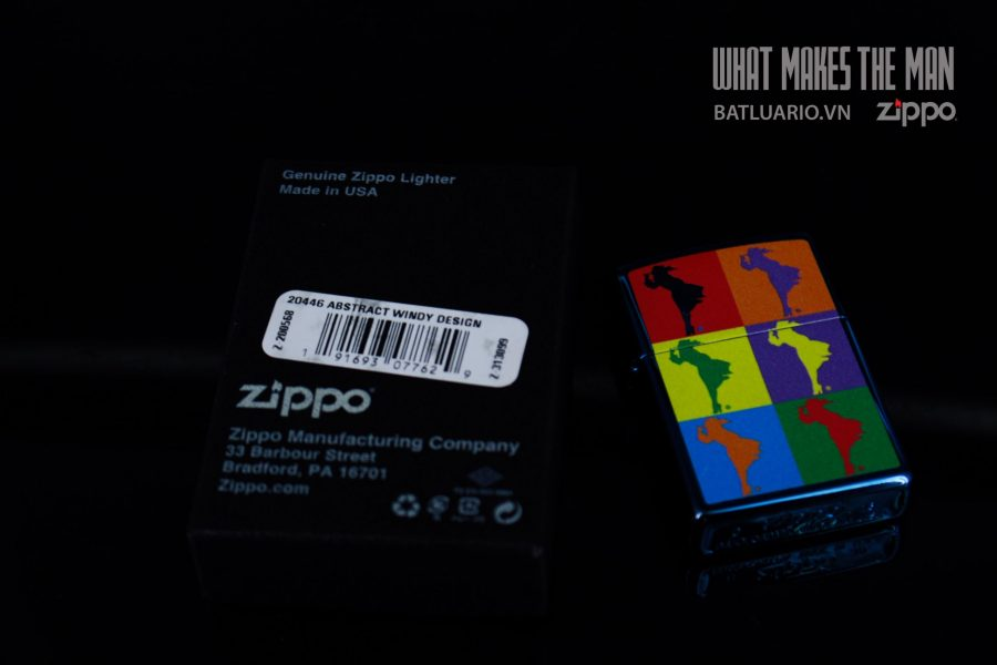ZIPPO 20446 ABSTRACT WINDY DESIGN 1