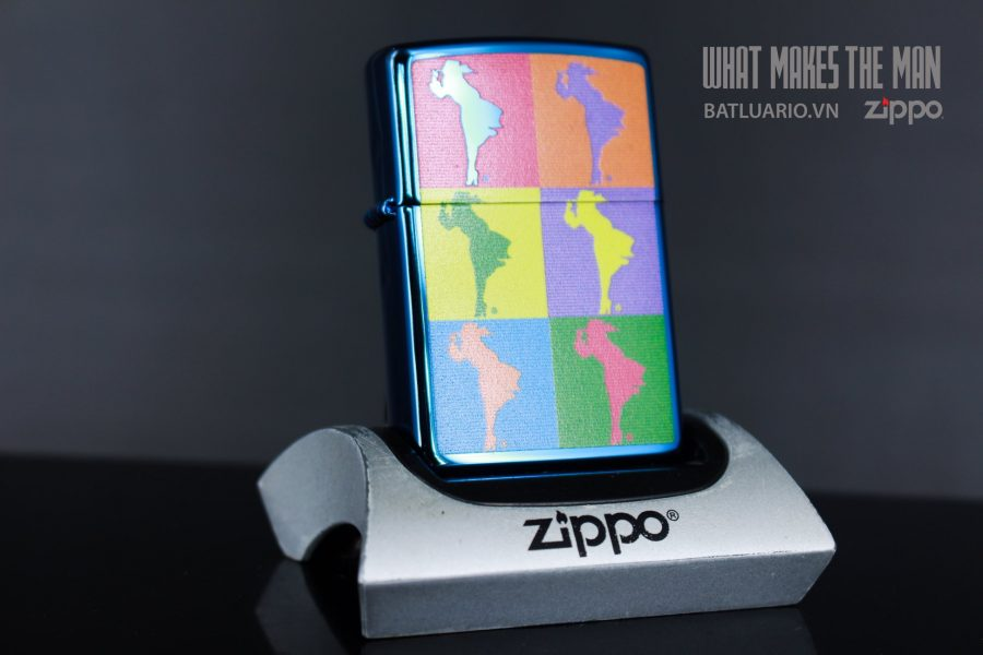 ZIPPO 20446 ABSTRACT WINDY DESIGN