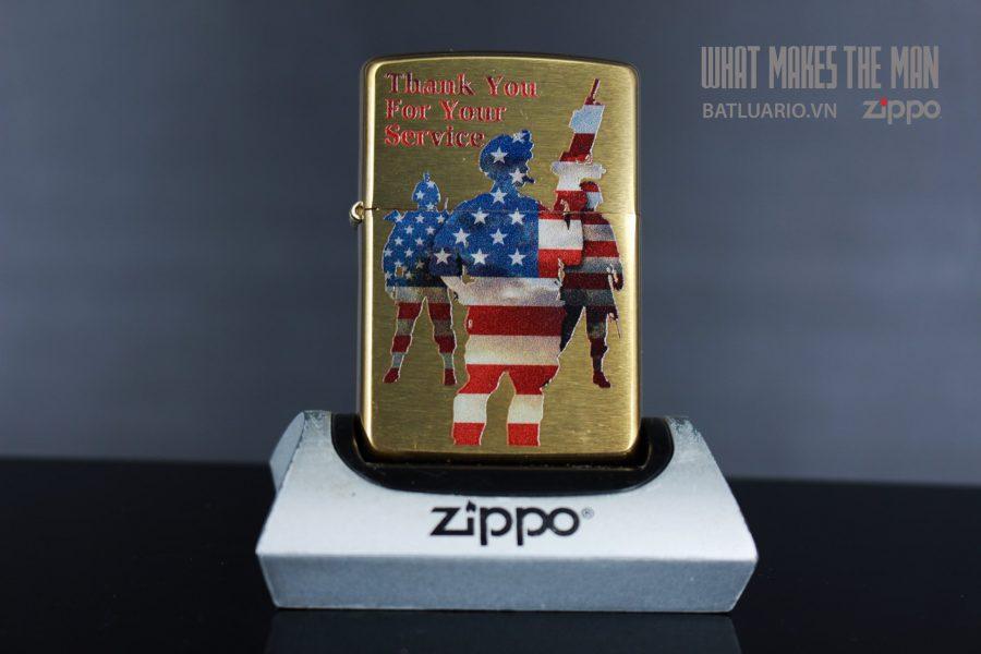 ZIPPO 204B AMERICAN SERVICE