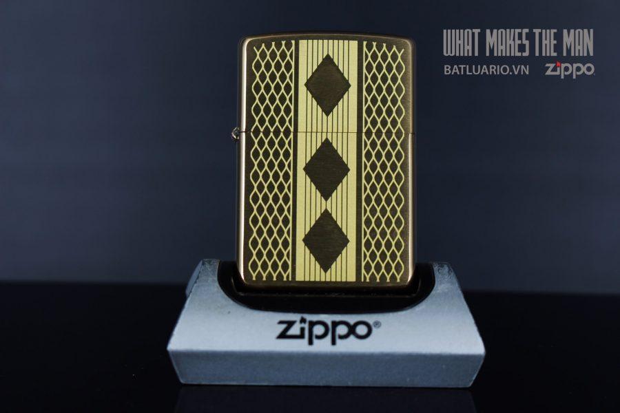 ZIPPO 204B DIAMOND GRILL DESIGN LASER 1