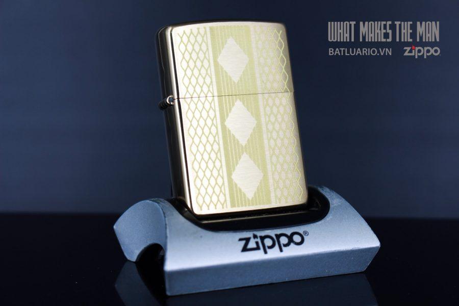 ZIPPO 204B DIAMOND GRILL DESIGN LASER