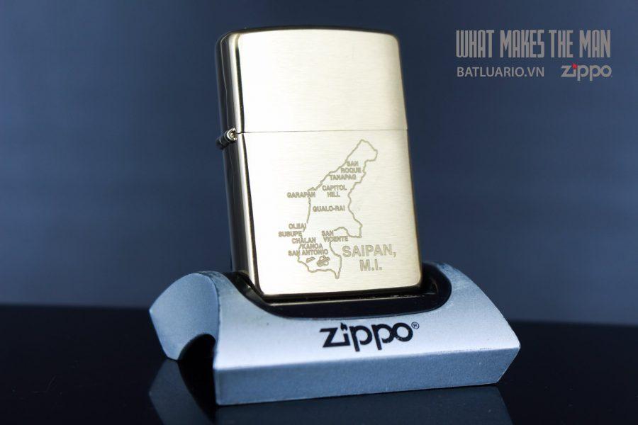 ZIPPO 204B SAIPAN MAP