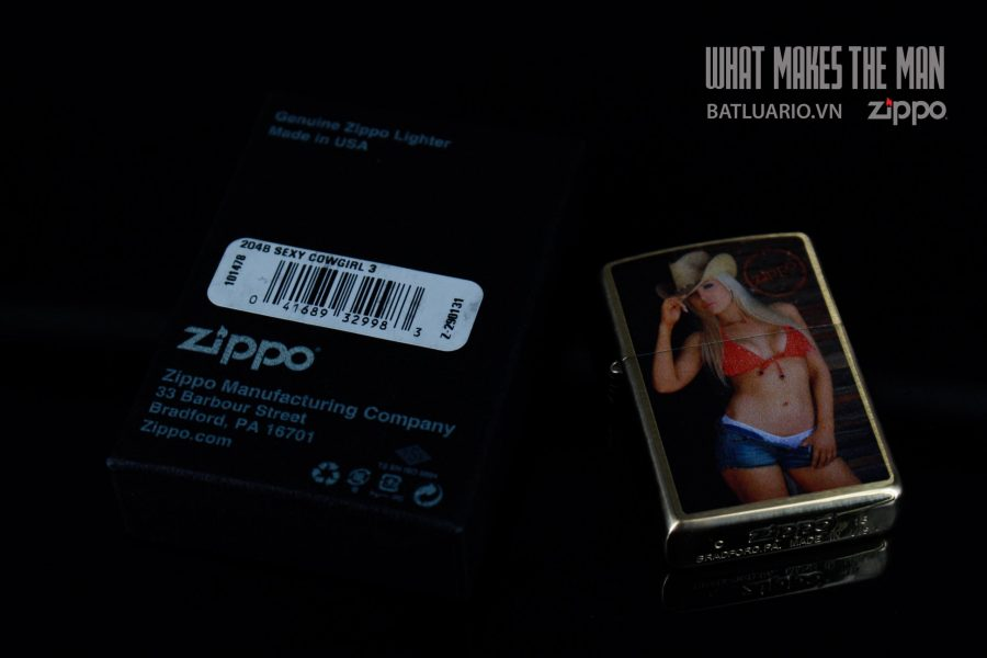 ZIPPO 204B SEXY COWGIRL 1