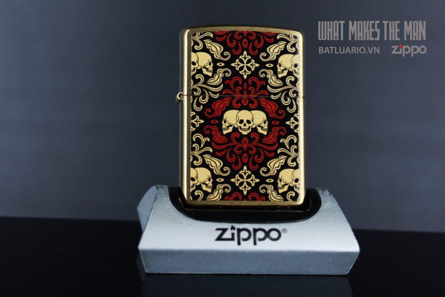 ZIPPO 204B SKULLS ORNAMENT 2