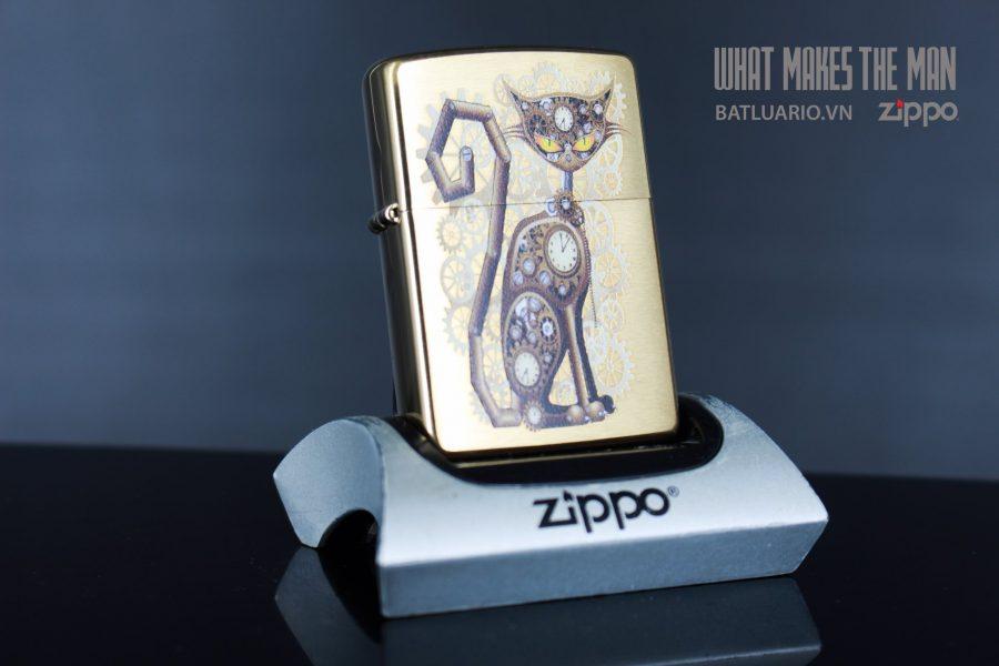 ZIPPO 204B STEAMPUNK CAT 2