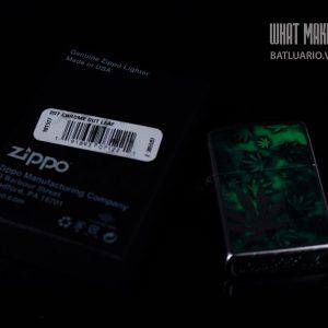 ZIPPO 207 CHROME OUT LEAF 1