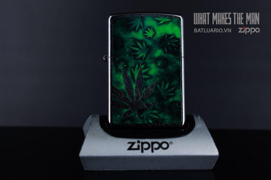 ZIPPO 207 CHROME OUT LEAF 2