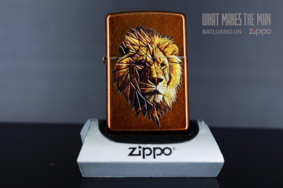 ZIPPO 21184 POLYGON LION DESIGN 2