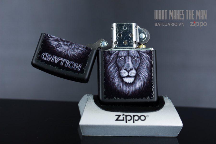 ZIPPO 218 BLACK AND WHITE LION 3