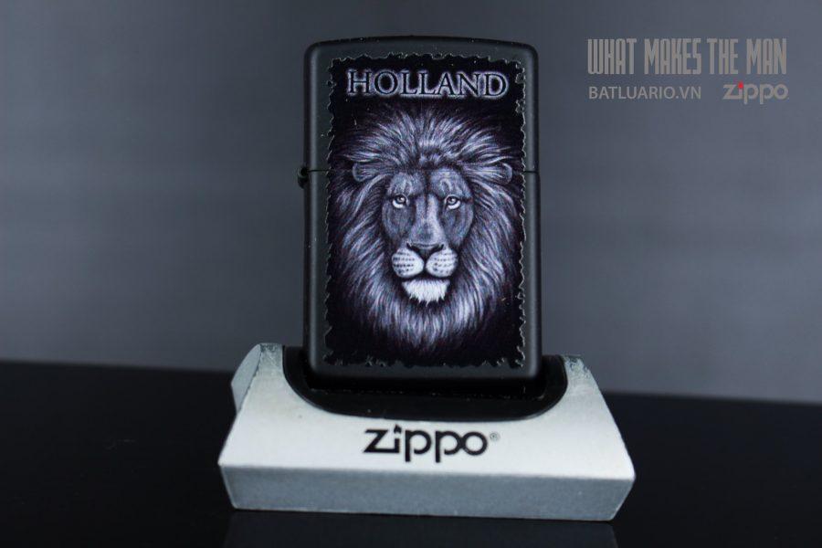 ZIPPO 218 BLACK AND WHITE LION