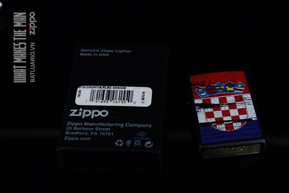 ZIPPO 218 CROATIA FLAG DESIGN 1