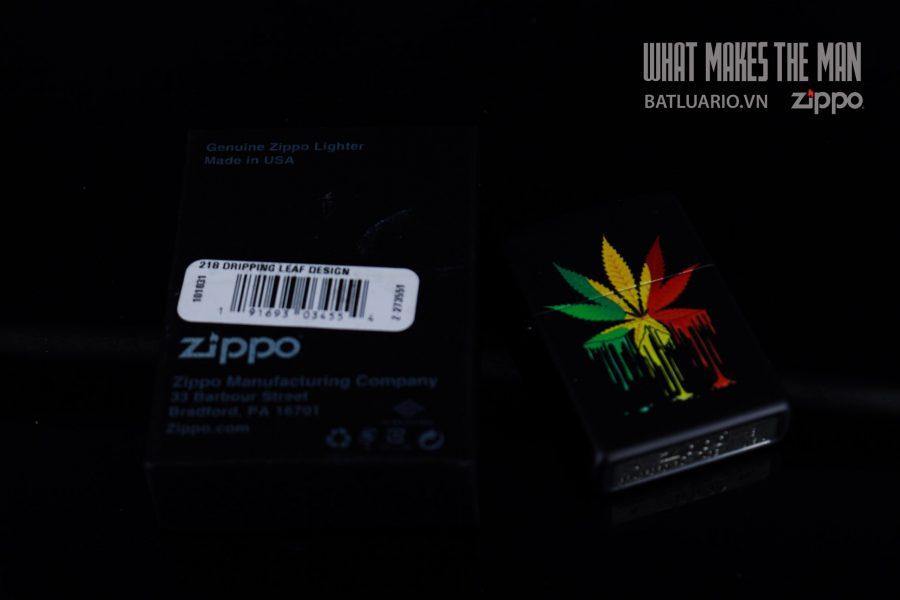 ZIPPO 218 DRIPPING LEAF DESIGN 1