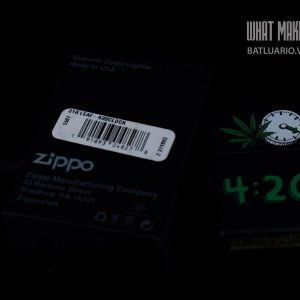 ZIPPO 218 LEAF 420 CLOCK 1