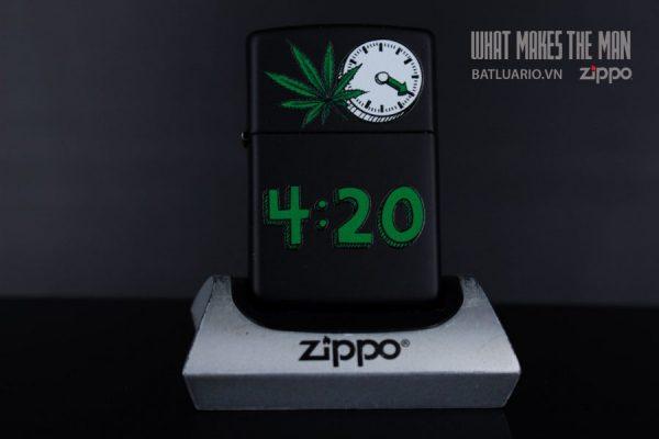 ZIPPO 218 LEAF 420 CLOCK 2