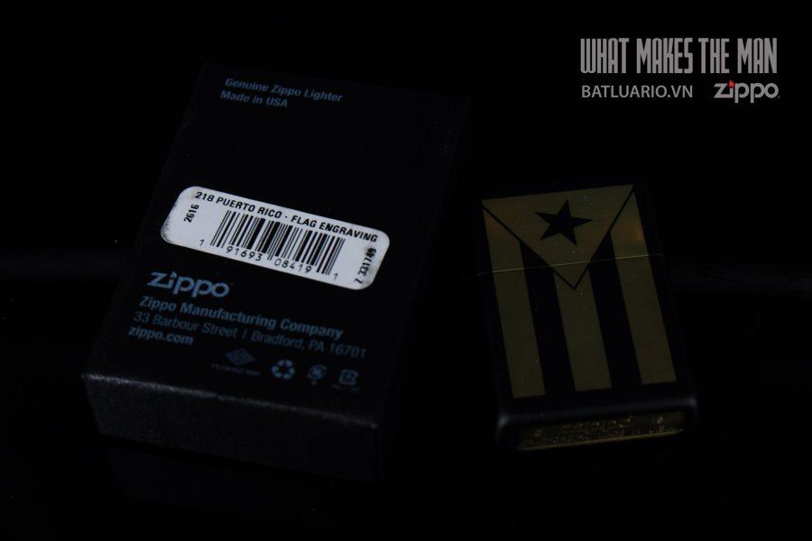 ZIPPO 218 PUERTO RICO FLAG ENGRAVING 1
