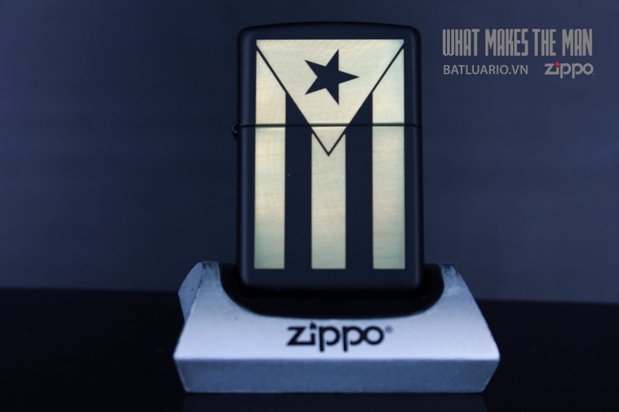 ZIPPO 218 PUERTO RICO FLAG ENGRAVING 2