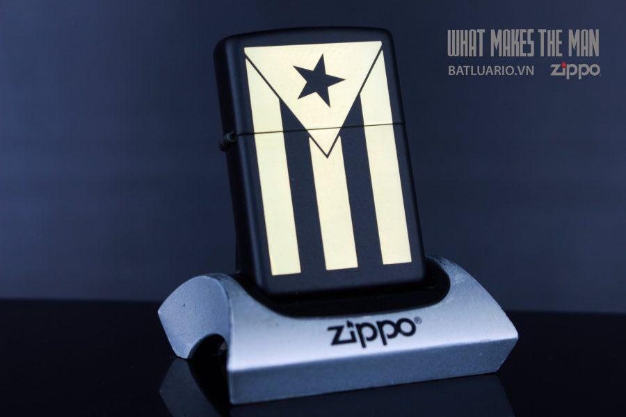 ZIPPO 218 PUERTO RICO FLAG ENGRAVING