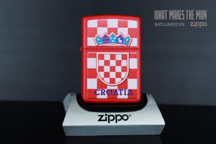 ZIPPO 233 CROATIA CREST CHECKERED BACK 2
