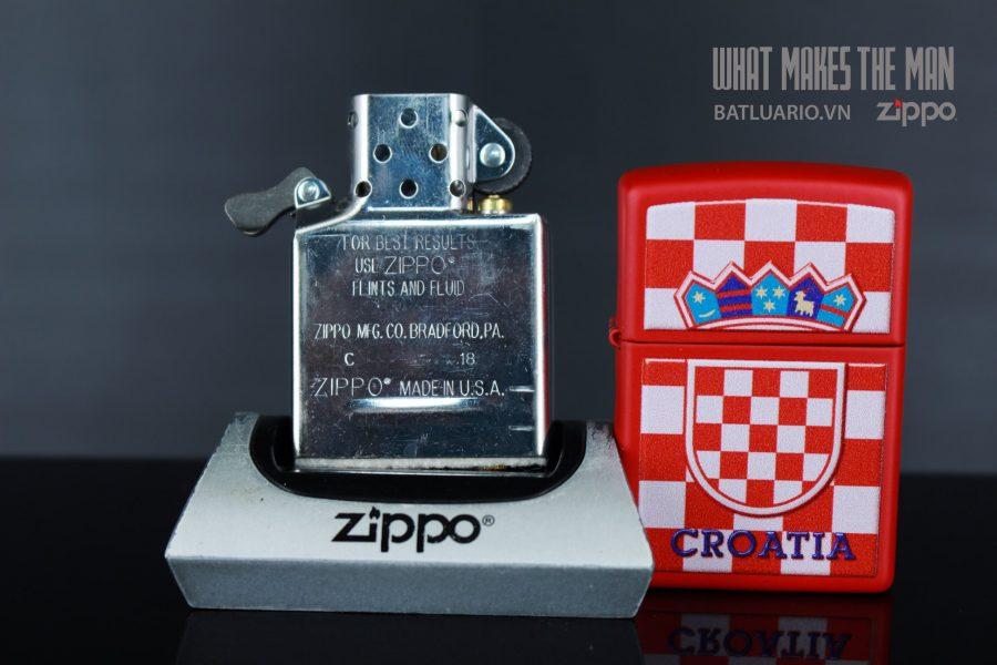 ZIPPO 233 CROATIA CREST CHECKERED BACK 7