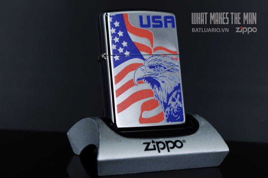 ZIPPO 250 EAGLE FLAG USA