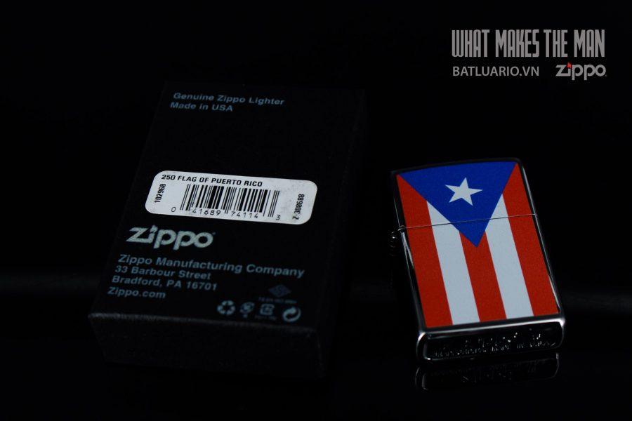 ZIPPO 250 FLAG OF PUERTO RICO 1