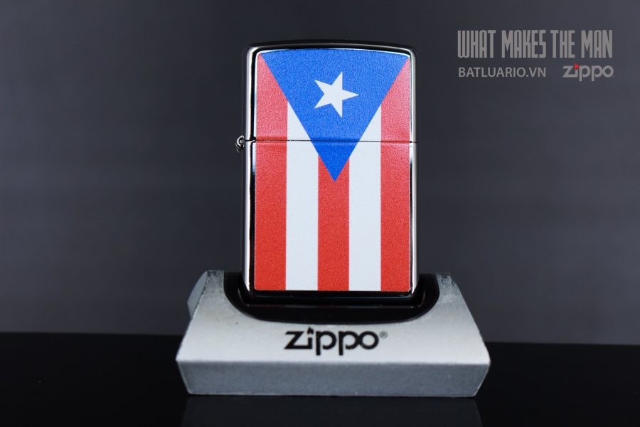ZIPPO 250 FLAG OF PUERTO RICO