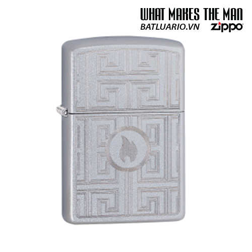 Zippo 29857 - Zippo Labyrinth Design Satin Chrome