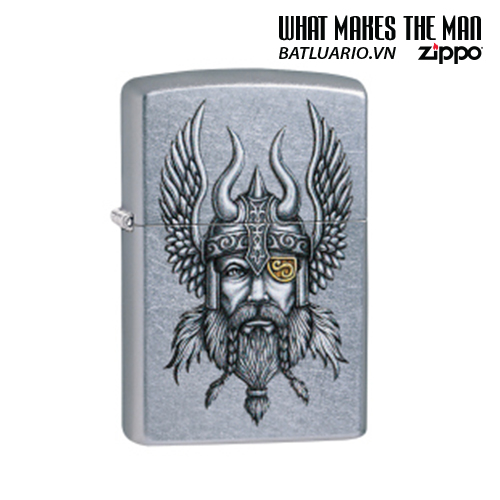 Zippo 29871 - Zippo Viking Warrior Design Street Chrome