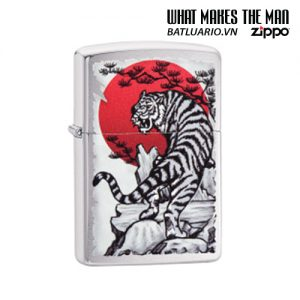 Zippo 29889 - Zippo Asian Tiger Design Brushed Chrome