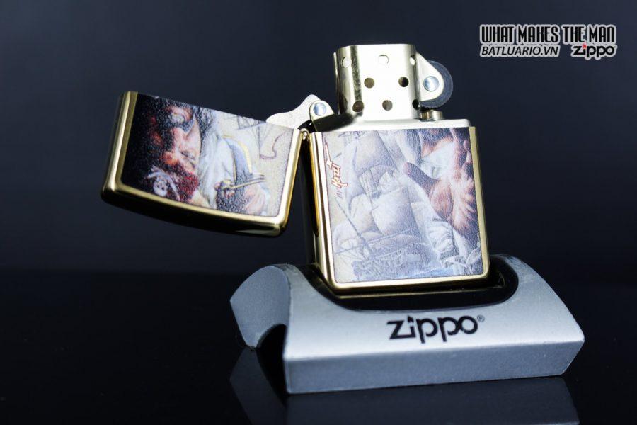 Zippo 29781 – Zippo Mazzi Pirate Ship Brush Brass 3