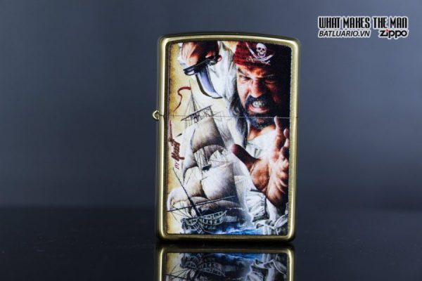 Zippo 29781 – Zippo Mazzi Pirate Ship Brush Brass 4