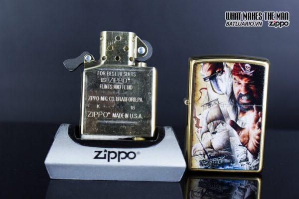 Zippo 29781 – Zippo Mazzi Pirate Ship Brush Brass 7