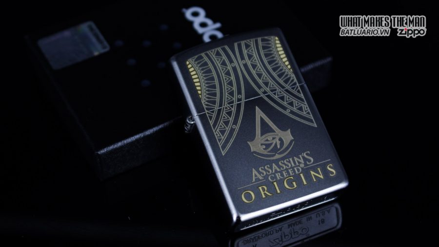 Zippo 29785 – Zippo Assassins Creed Origins Satin Chrome 1
