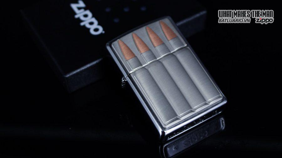 Zippo 29821 – Zippo Bullets Brush Chrome Emblem Attached 10