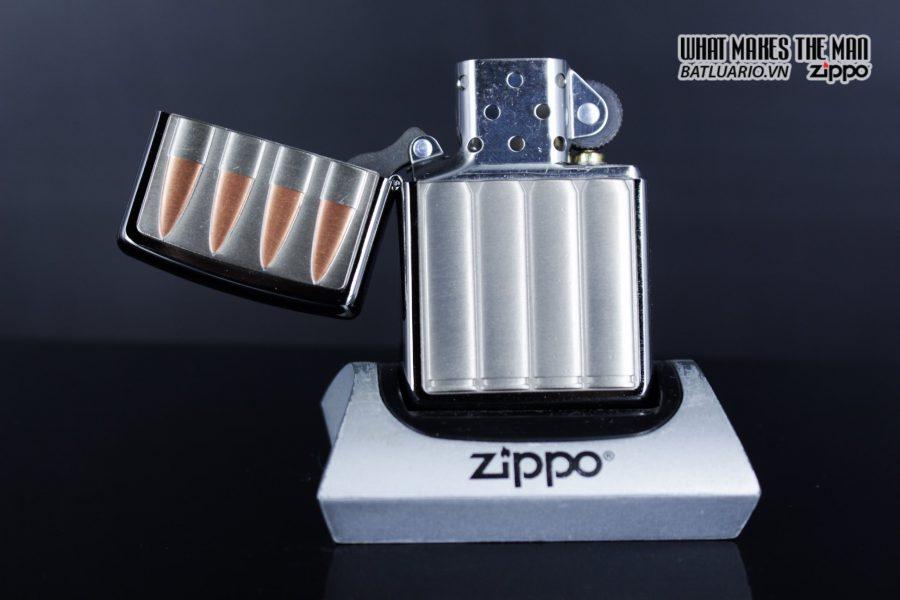 Zippo 29821 – Zippo Bullets Brush Chrome Emblem Attached 3