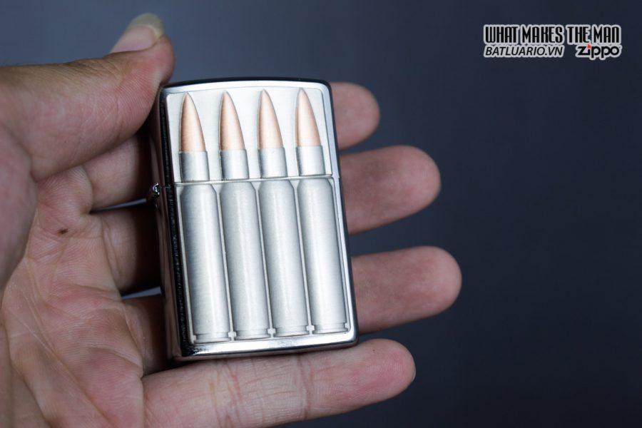 Zippo 29821 – Zippo Bullets Brush Chrome Emblem Attached 8
