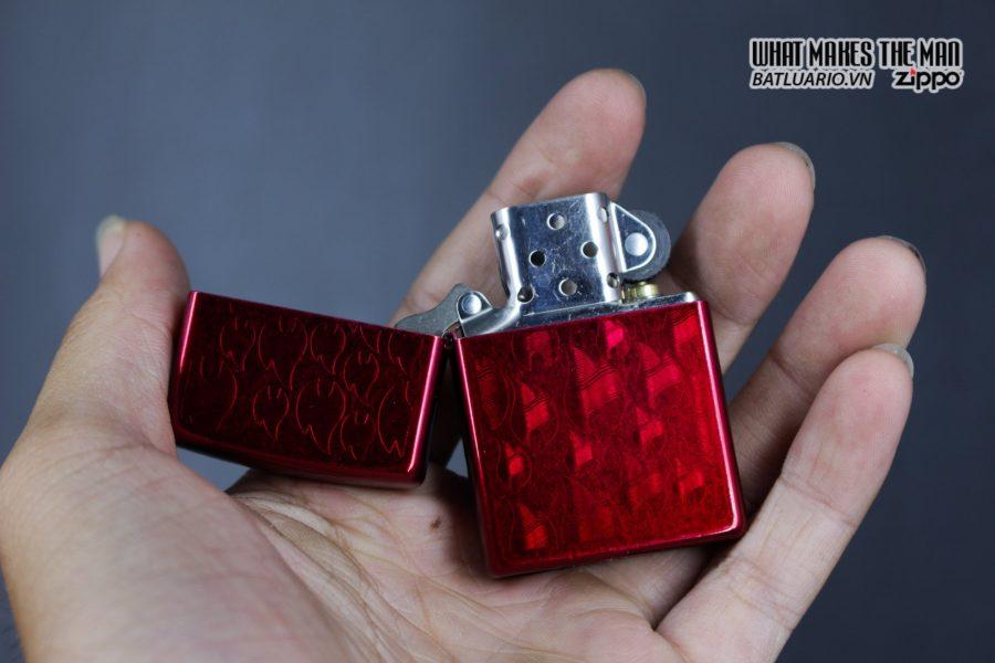 Zippo 29824 – Zippo Iced Zippo Flame Design Candy Apple Red 10