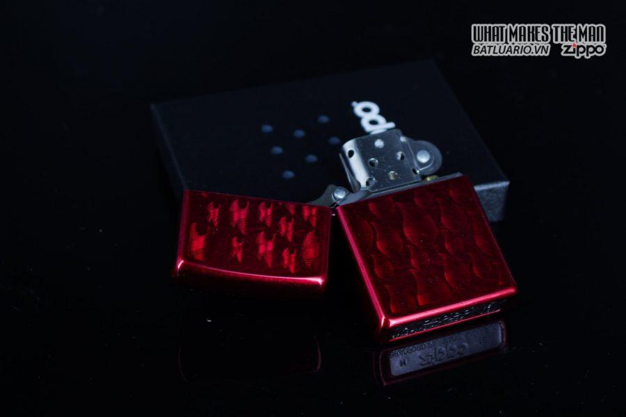 Zippo 29824 – Zippo Iced Zippo Flame Design Candy Apple Red 13