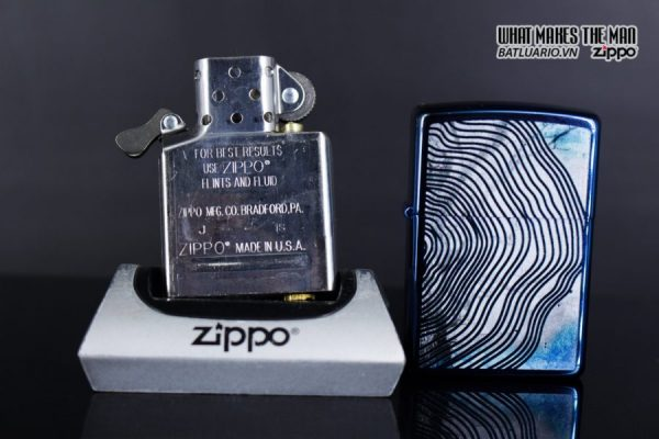 Zippo 29827 – Zippo Tree Rings Design High Polish Blue 10