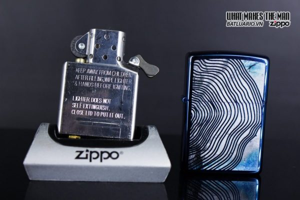 Zippo 29827 – Zippo Tree Rings Design High Polish Blue 11