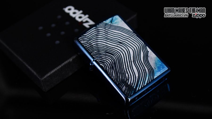 Zippo 29827 – Zippo Tree Rings Design High Polish Blue 12