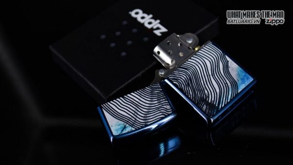 Zippo 29827 – Zippo Tree Rings Design High Polish Blue 13