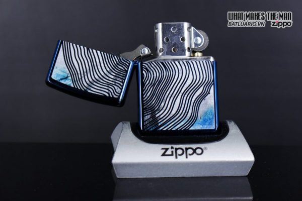 Zippo 29827 – Zippo Tree Rings Design High Polish Blue 3