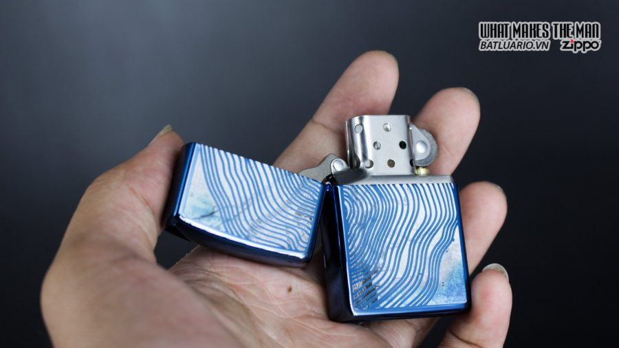 Zippo 29827 – Zippo Tree Rings Design High Polish Blue 8