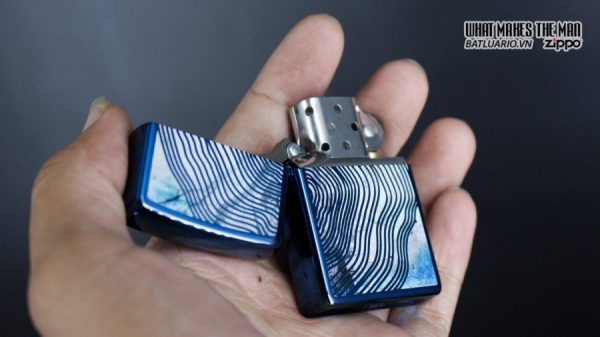 Zippo 29827 – Zippo Tree Rings Design High Polish Blue 9