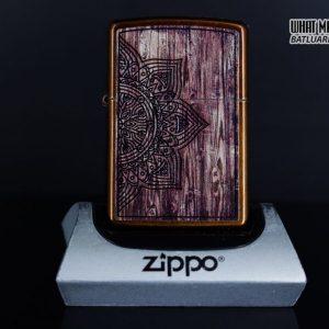 Zippo 29828 – Zippo Wood Mandal Design Toffee 1