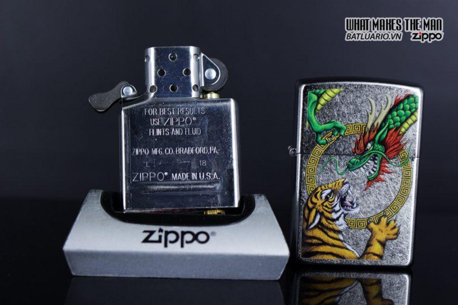 Zippo 29837 – Zippo Chinese Dragon Design Street Chrome 10