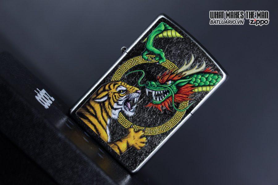 Zippo 29837 – Zippo Chinese Dragon Design Street Chrome 6