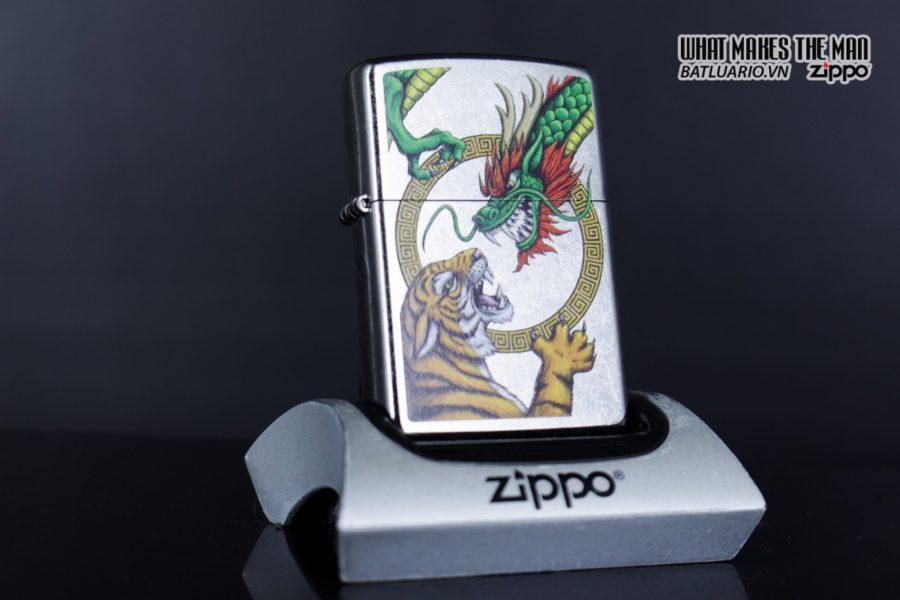 Zippo 29837 – Zippo Chinese Dragon Design Street Chrome 7